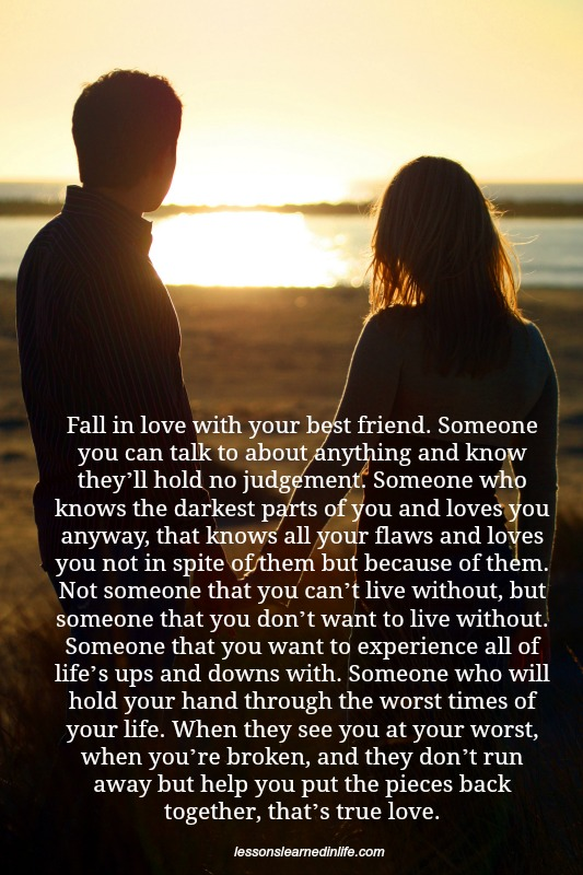 Love Each Other When Two Souls: Lessons Learned In LifeThat's True Love.