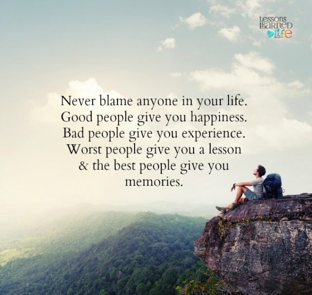 Best Lesson From Life Quotes: Lessons Learned In LifeThe Best Give You Memories