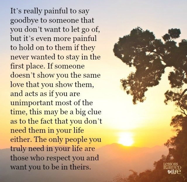 Lessons Learned In Lifethe Pain Of Saying Goodbye