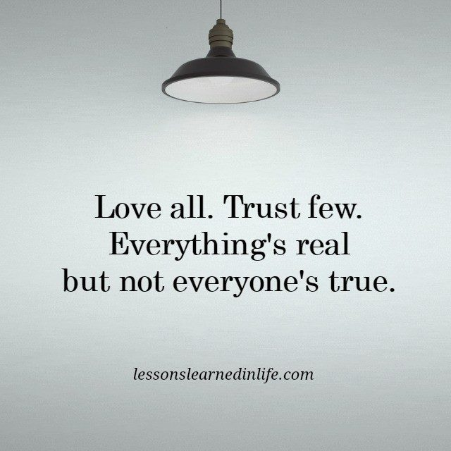 lessons learned in lifetrust few lessons learned in life