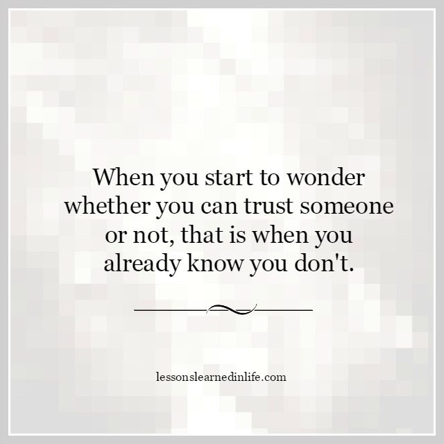 how to know if you can trust someone