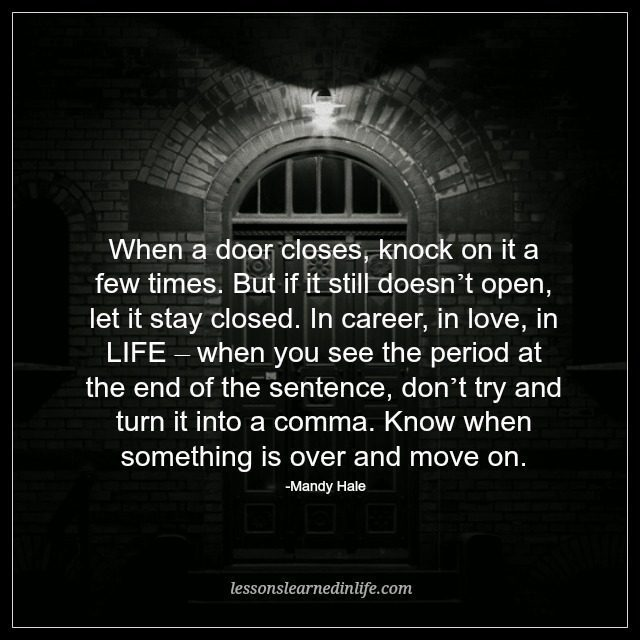 37. « & Lessons Learned in LifeWhen a door closes. - Lessons Learned in Life