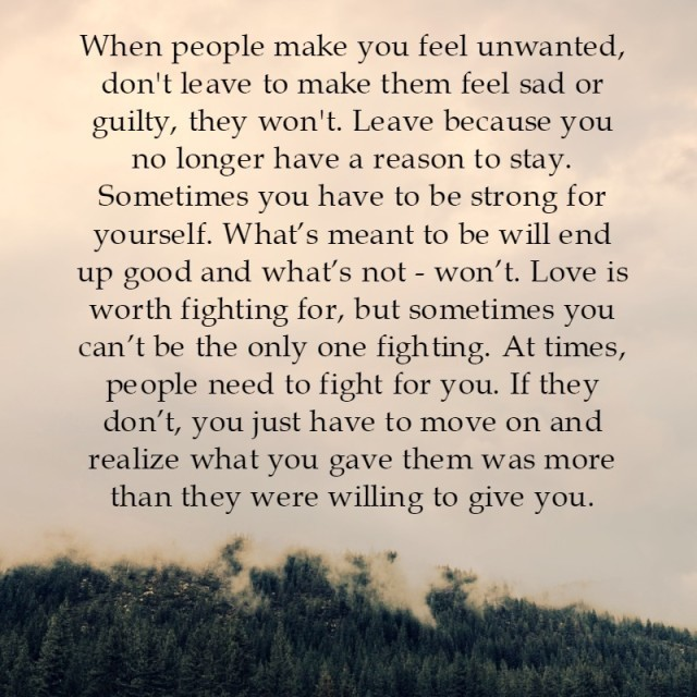 Lessons Learned In Lifewhen People Make You Feel Unwanted Lessons