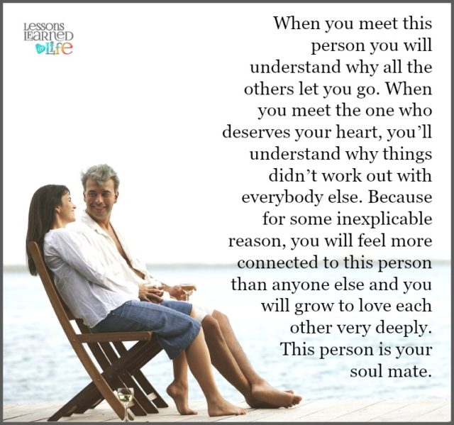Love Each Other When Two Souls: Lessons Learned In LifeWhen You Meet This Person
