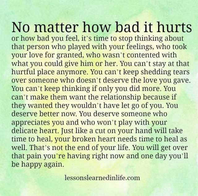 Lessons Learned In Lifeyou Deserve Better Now Lessons