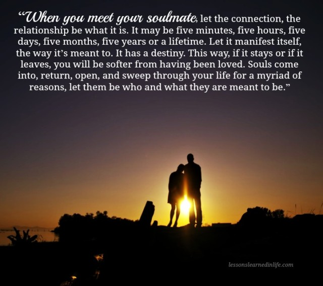 Love Each Other When Two Souls: Lessons Learned In LifeYour Soulmate Is Destiny.