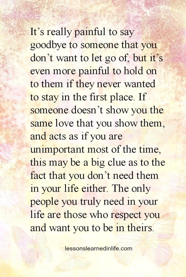 Lessons Learned In Lifesaying Goodbye Lessons Learned