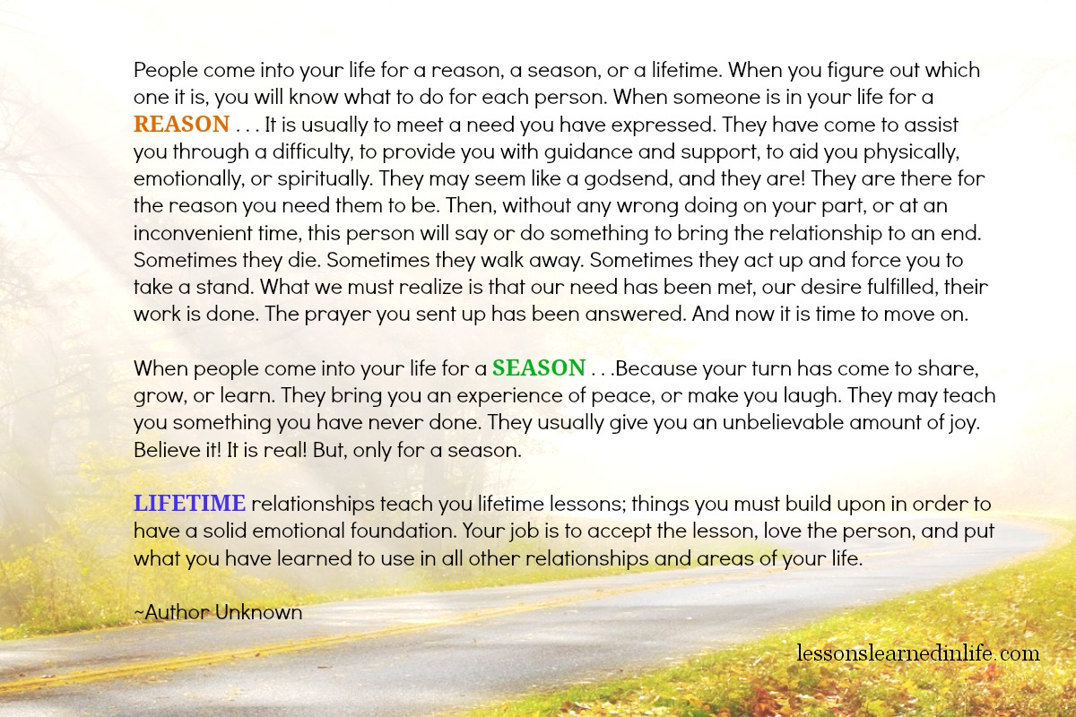 Lessons Learned In Lifereason Season Lifetime Lessons Learned