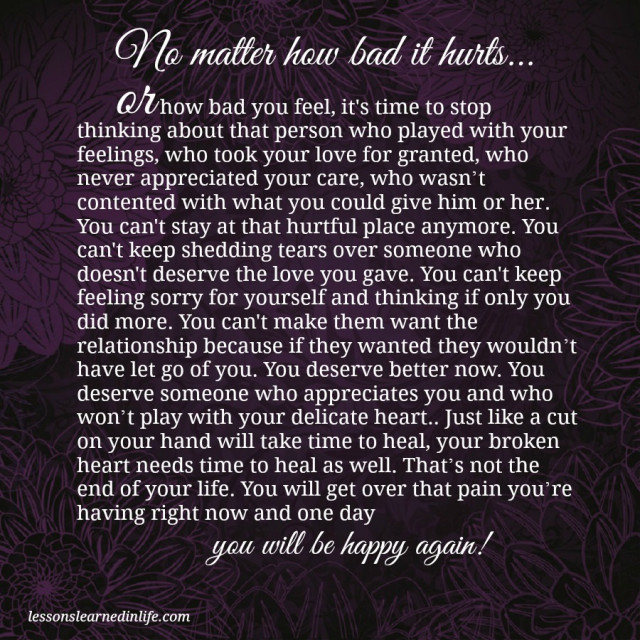 Lessons Learned In Lifeyou Will Be Happy Again Lessons Learned In